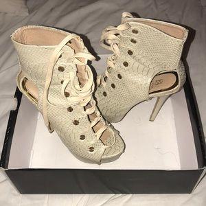 ShoeDazzle Lace up Heel